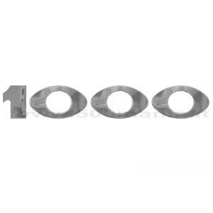 Scritta Abarth 1000