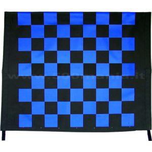Capottina a scacchi blu e nera