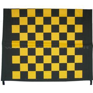 Capottina a scacchi gialla e nera