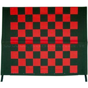 Capottina a scacchi rossa e nera