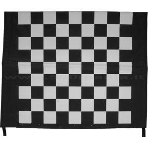 Capottina a scacchi bianca e nera